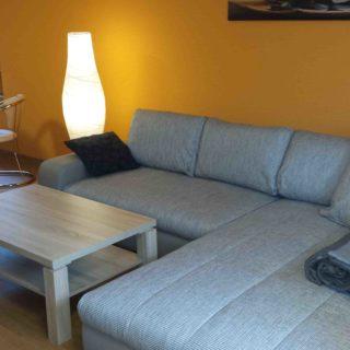 Ferienwohnung Cospudener See - Schollbach -Wohnzimmer mit Schlafcouch
